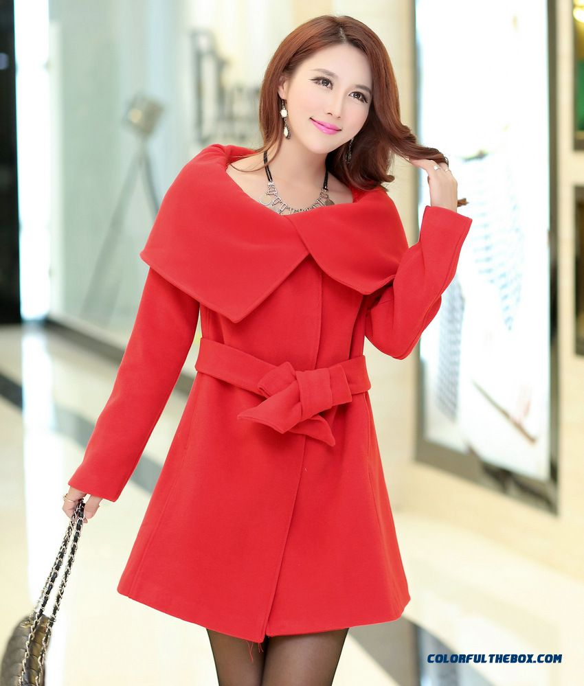 Large Lapel Woolen Coat Elegant And Delicate Woolen Coat Women