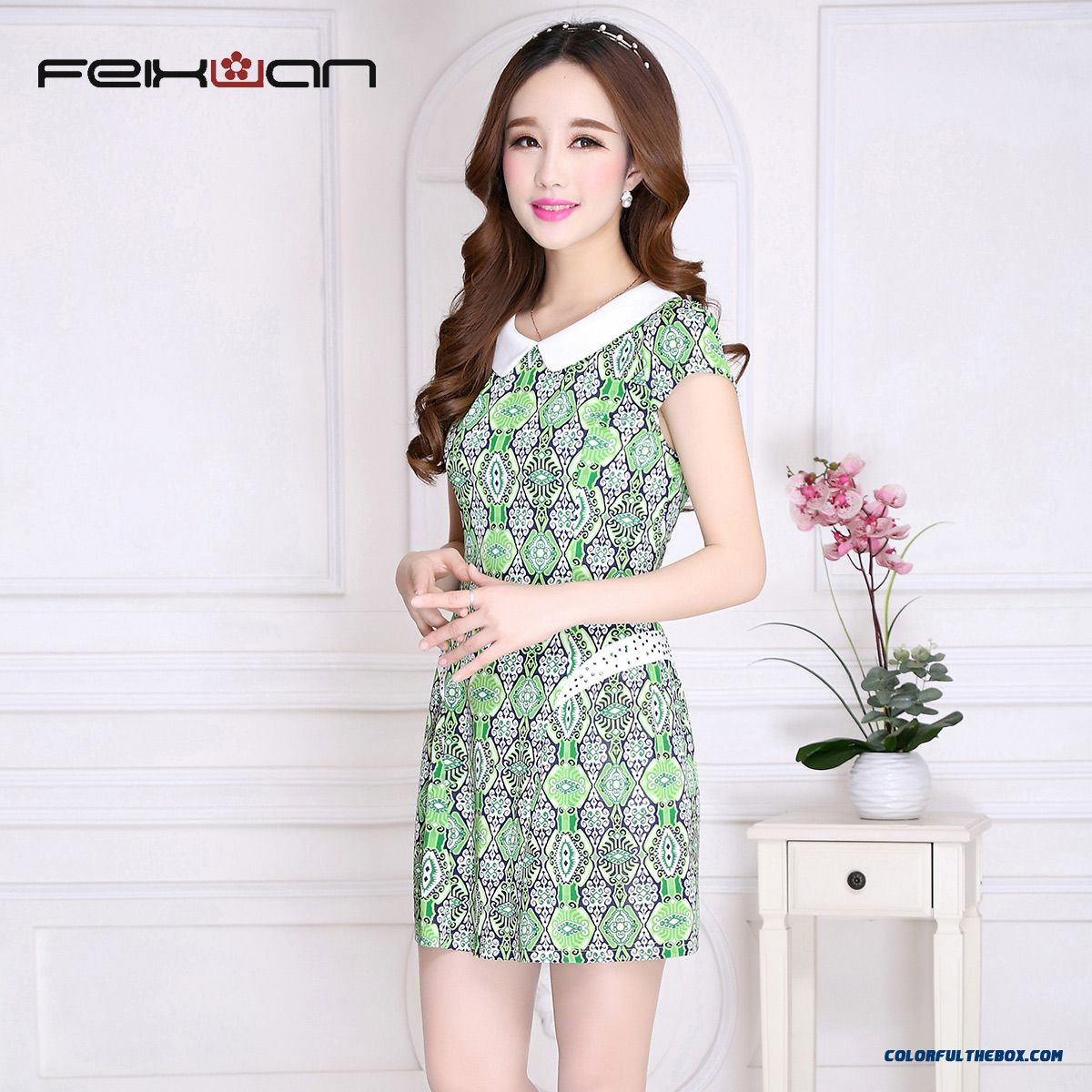Large Size Women Dress Slim Women Dress Printed Latest Fashion