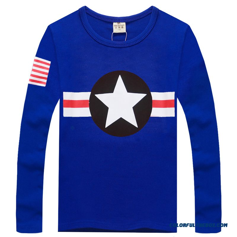 Latest Arrival A Variety Of Colors Boys Long-sleeved Clothing T-shirt Cheap Free Shipping