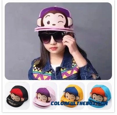 Latest Arrival Dual-brimmed Hat Adorkable Mouth Monkey Peaked Cap Kids' Accessories For Boys And Girls