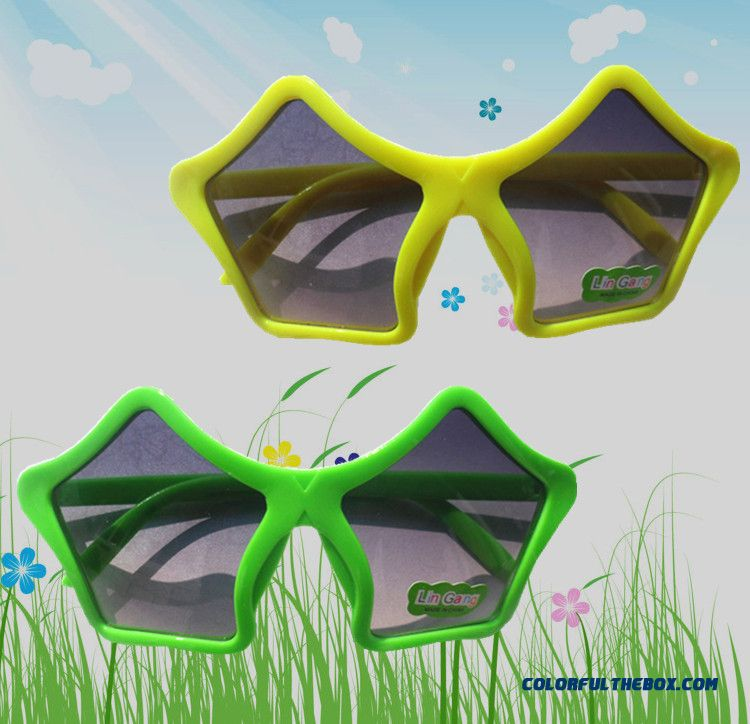 Latest Arrival Kids Sunglasses Boys Pentagram Radiation Protection Sunglasses Accessories - more images 1