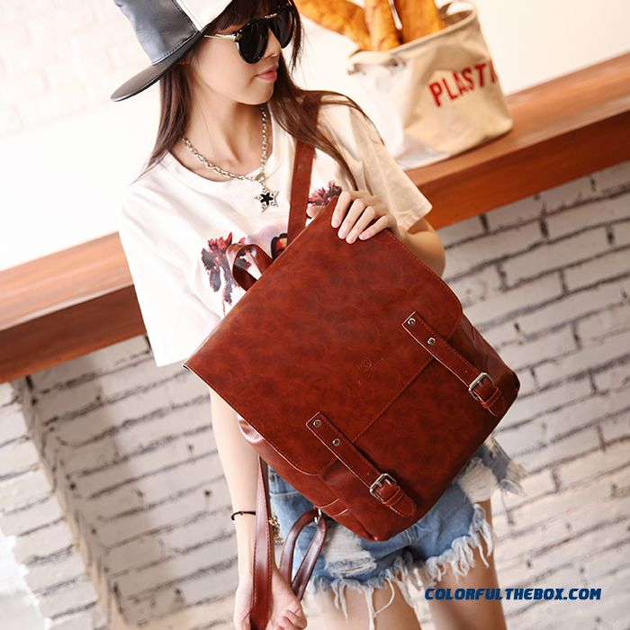 Latest Design Top Sale Spring New Fashion Travel Bag Pu Leather Schoolbags For Women