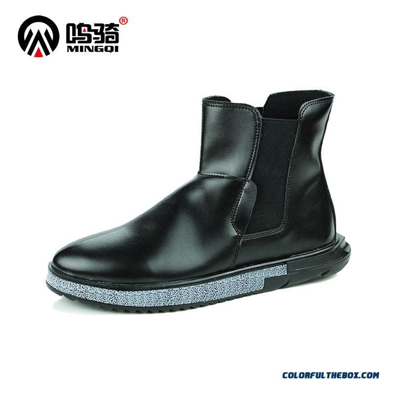 Latest Fashion Design Black Casual Keep Warm Tide Men Martin Boots