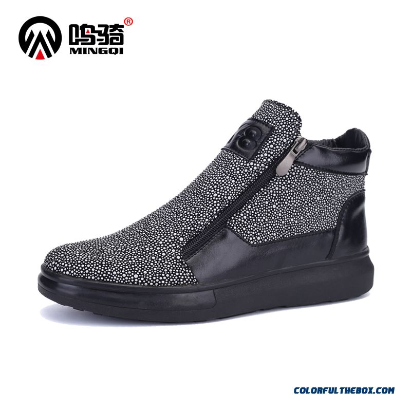 Latest Fashion Design Men Boots Winter Warm Plus Velvet Free Shipping