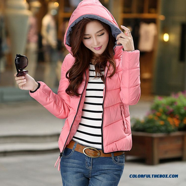 Latest Fashion New Winter Female Hooded Coat Thicken Short Yellow Bleu Special Offer