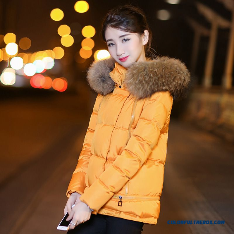 Latest Fashion Women Wear New Winter Thicken Short Yellow Red Grey Long