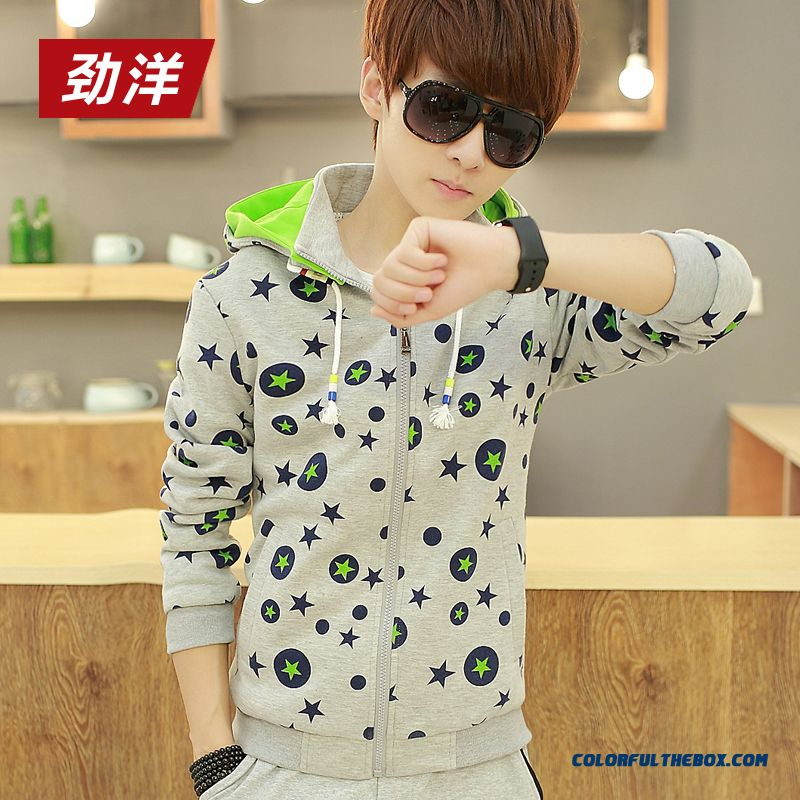 Latset Vogue Design Men Clothing Printing Sweatshirts Thin Slim