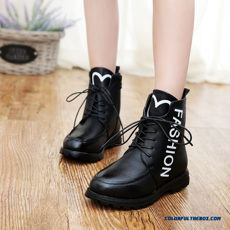 cheap leather boots cotton big kids korean version of