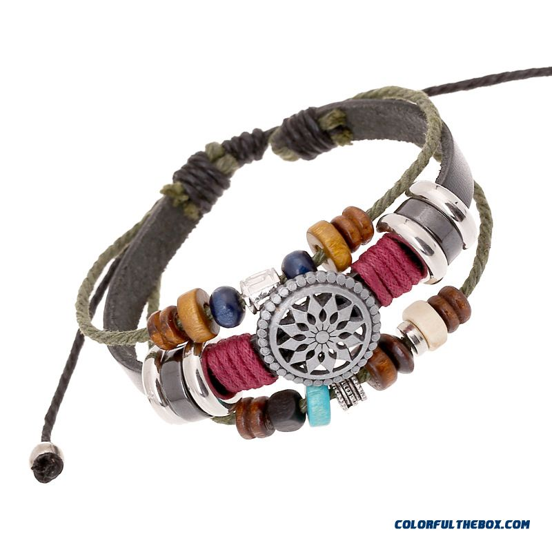 Leather Bracelet Retro Fashion Personality Temperament All-match Women Jewelry
