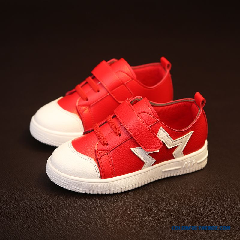 Leather Running Shoes Korean Casual Five-pointed Star Children's Shoes For Girls - more images 2