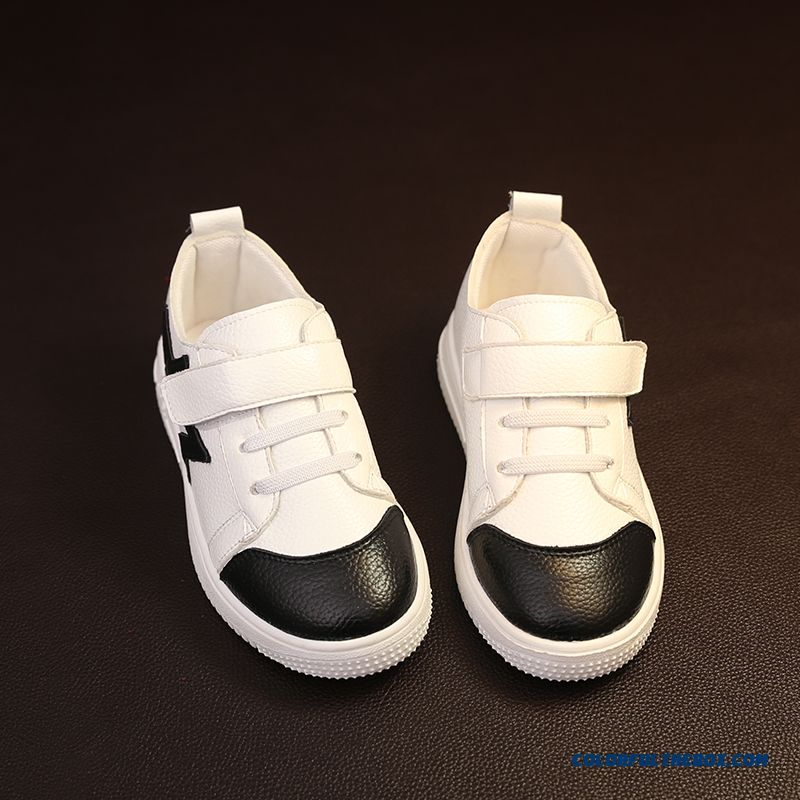 Leather Running Shoes Korean Casual Five-pointed Star Children's Shoes For Girls - more images 3