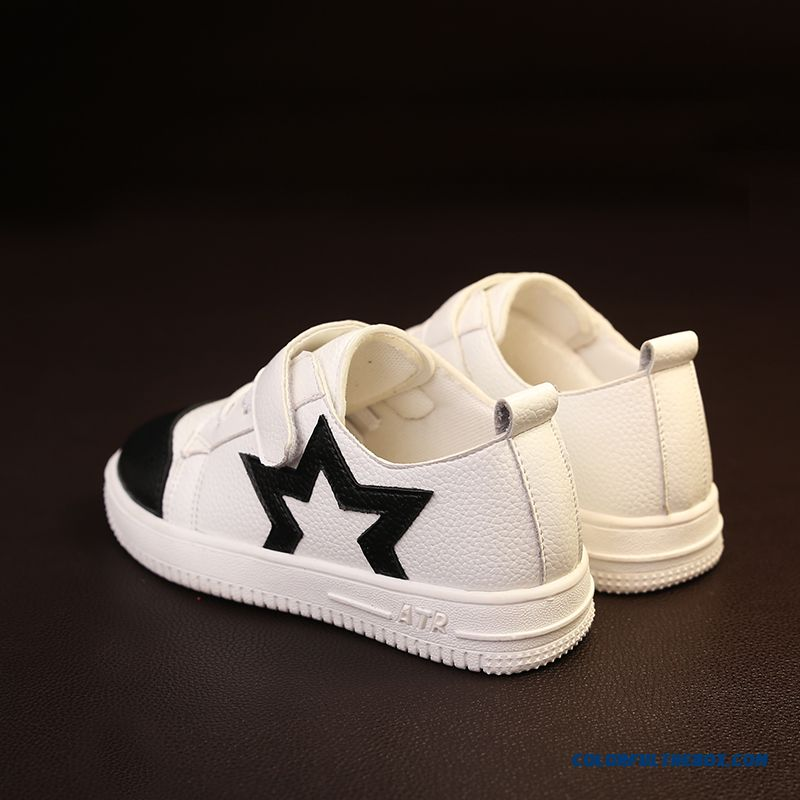 Leather Running Shoes Korean Casual Five-pointed Star Children's Shoes For Girls - more images 4