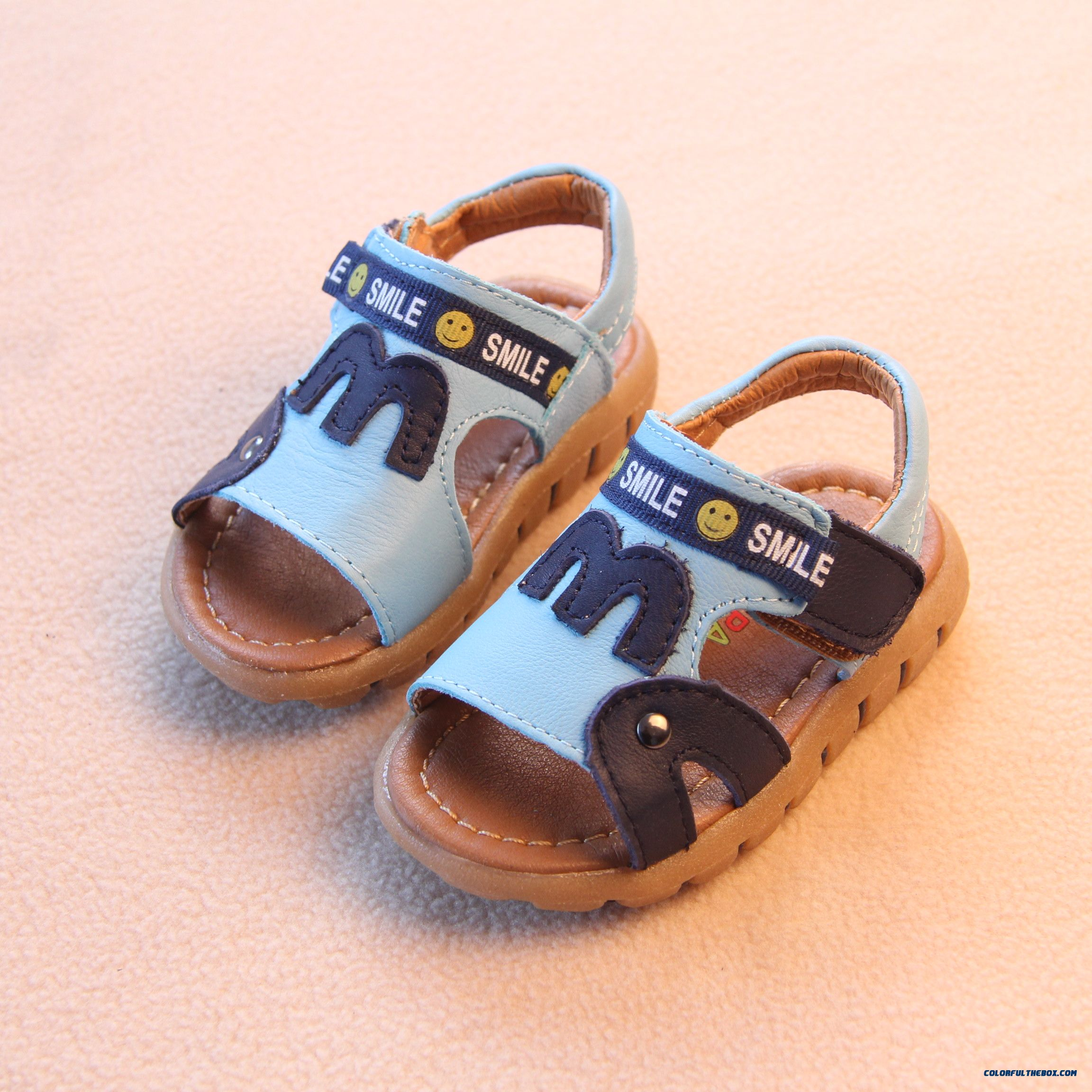 Leather Soft Outsole Baby Boys Open Toe Leather Kids Child Sandals - more images 1