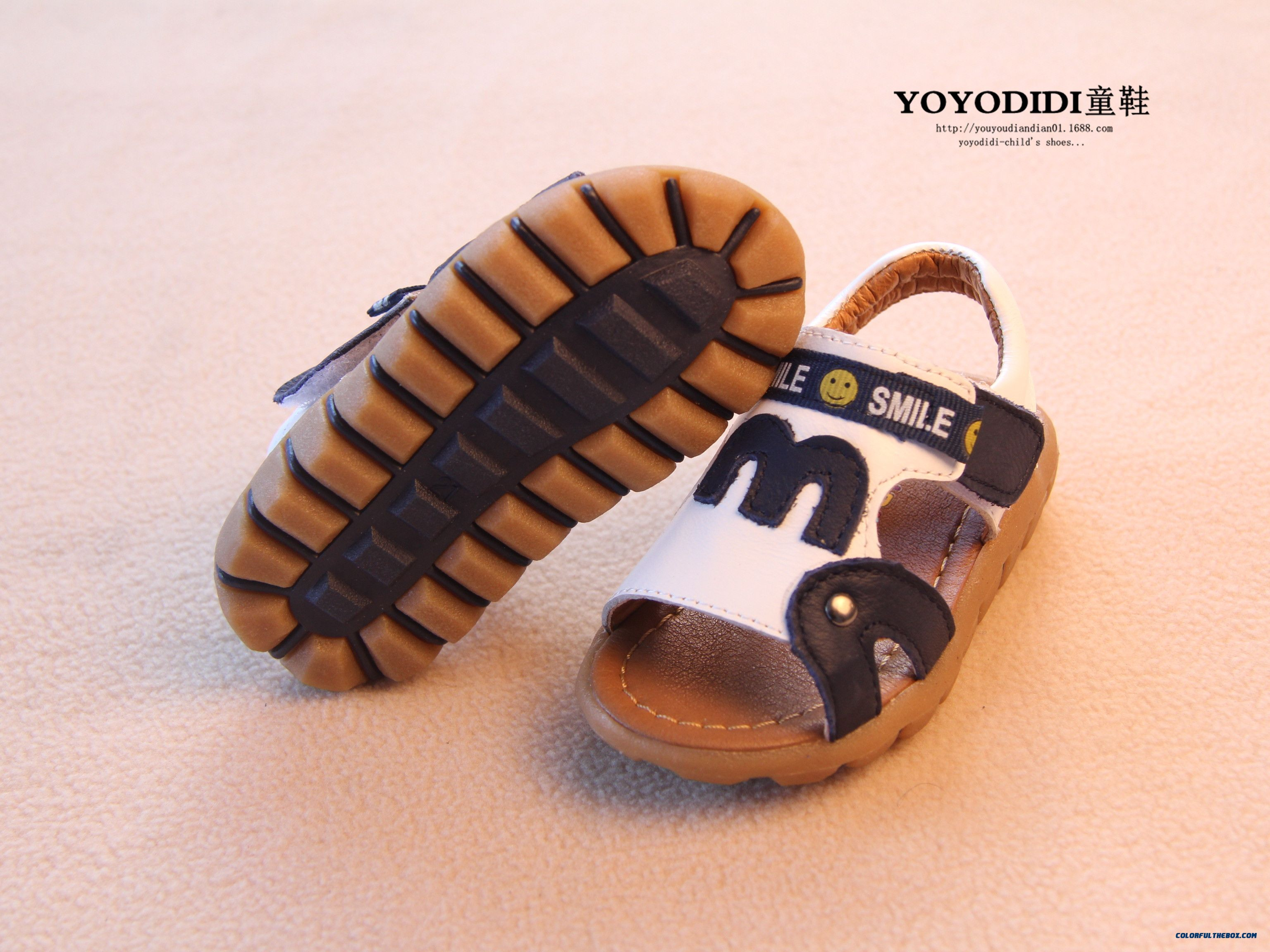 Leather Soft Outsole Baby Boys Open Toe Leather Kids Child Sandals - more images 2