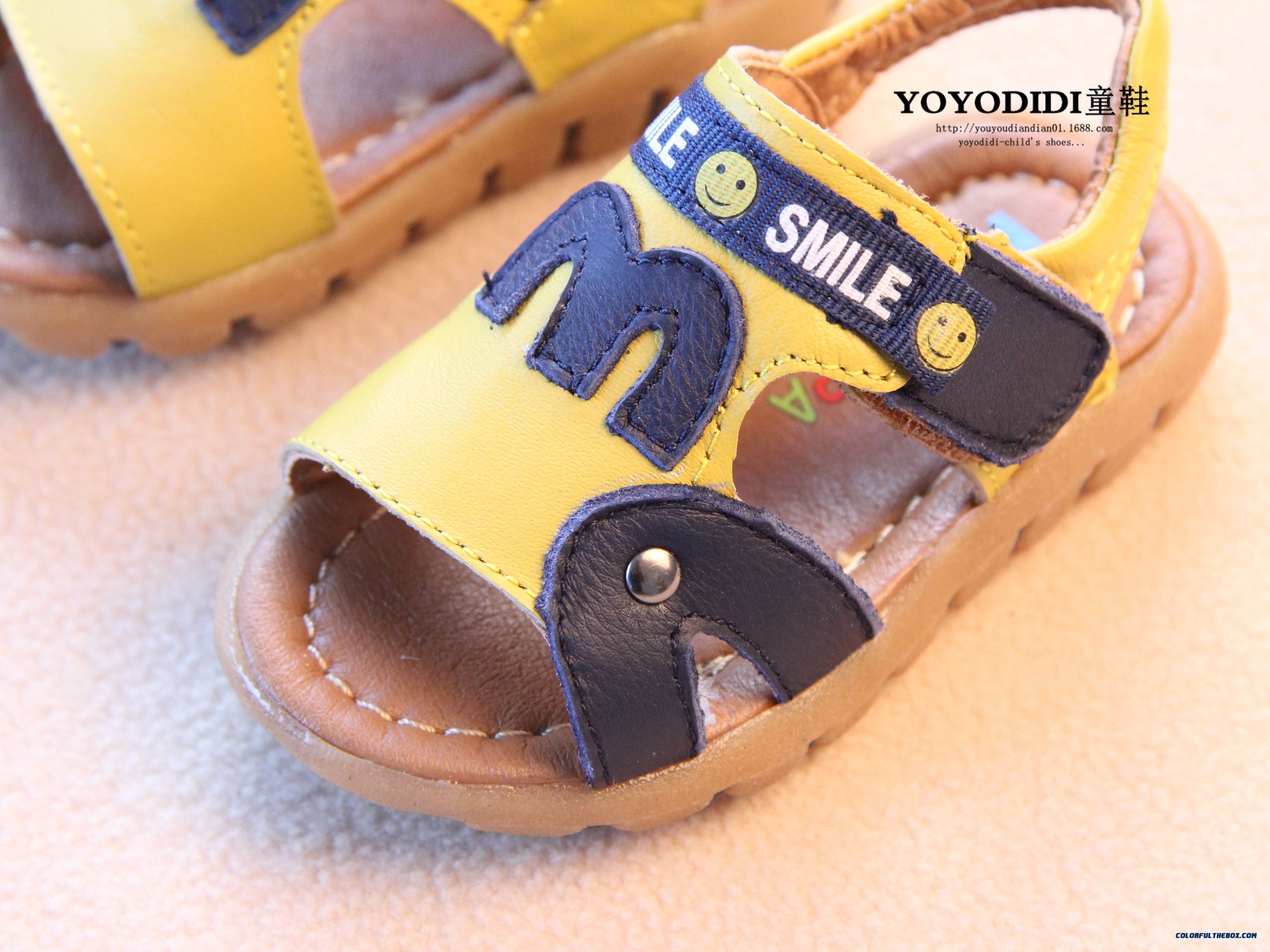 Leather Soft Outsole Baby Boys Open Toe Leather Kids Child Sandals - more images 4