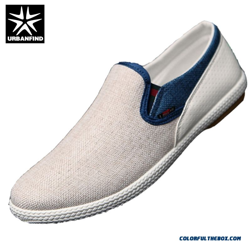 Leisure Shoes Modern Urban Men Casual Shoes Eu 39-44 Linen Woven Patchwork Fashion Flats New Breathable Man