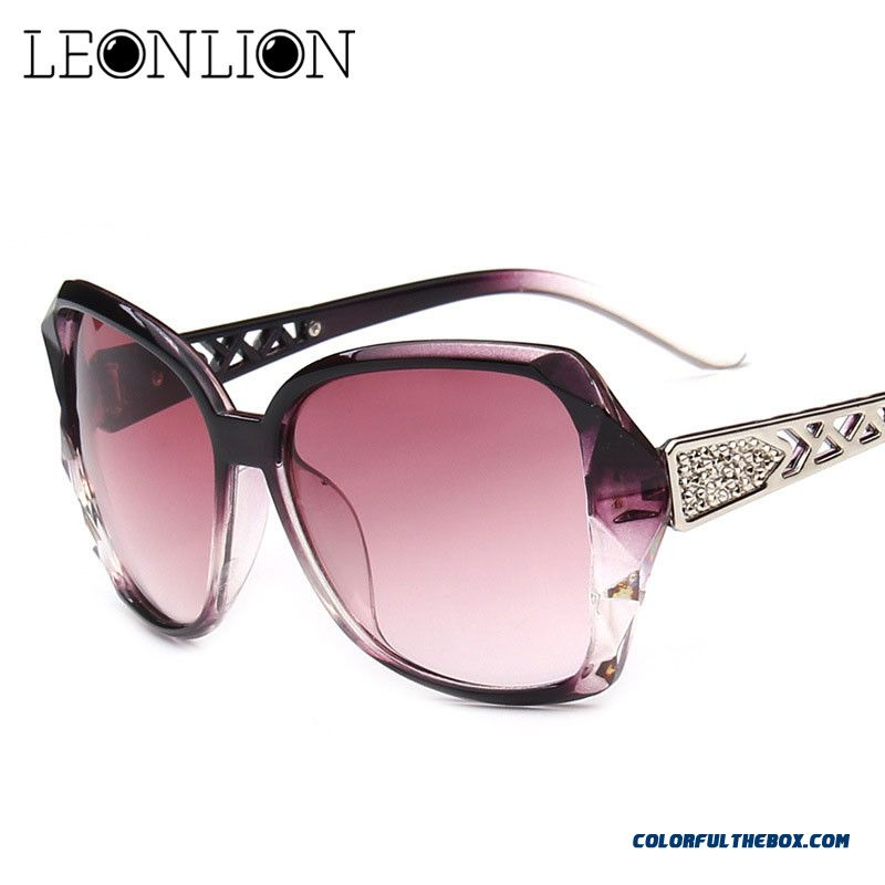 Leonlion 2019 Vintage Big Frame Sunglasses Women Brand Designer Gradient Lens Driving Sun Glasses Uv400 Oculos De Sol Feminino