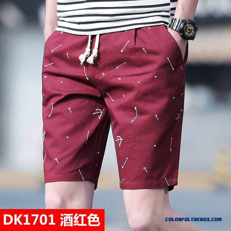 Loose Summer Tooling Large Size Red Sport Short Pants Men's Trend Leisure Shorts Student