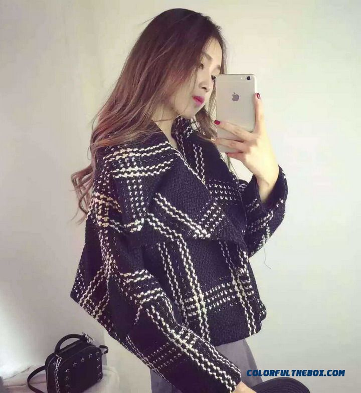Loose Thin 2015 Simple Lapel Tide Long-sleeved Short Women Woolen Coat