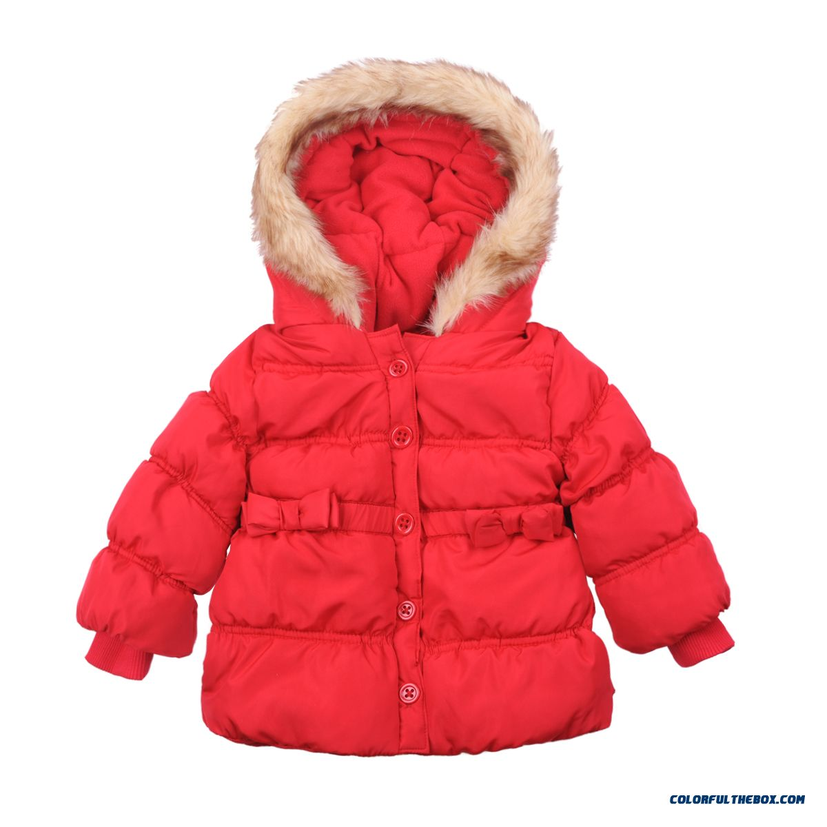 Loss Clearance Kids Girls Cotton Jacket Red Clothing 100% Cotton Material