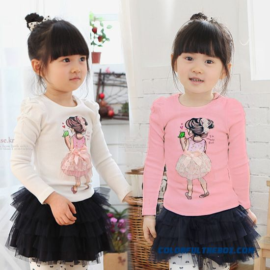 Lovely Princess Baby Girls Clothing Kids Long-sleeved T-shirt