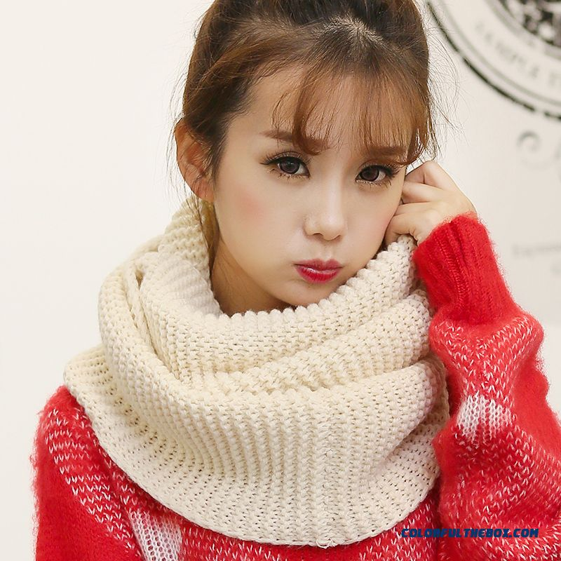 Lovers Thick Warm Tide Boys And Girls Scarves Solid Color Wool Scarf Women Mode Accessories Hot