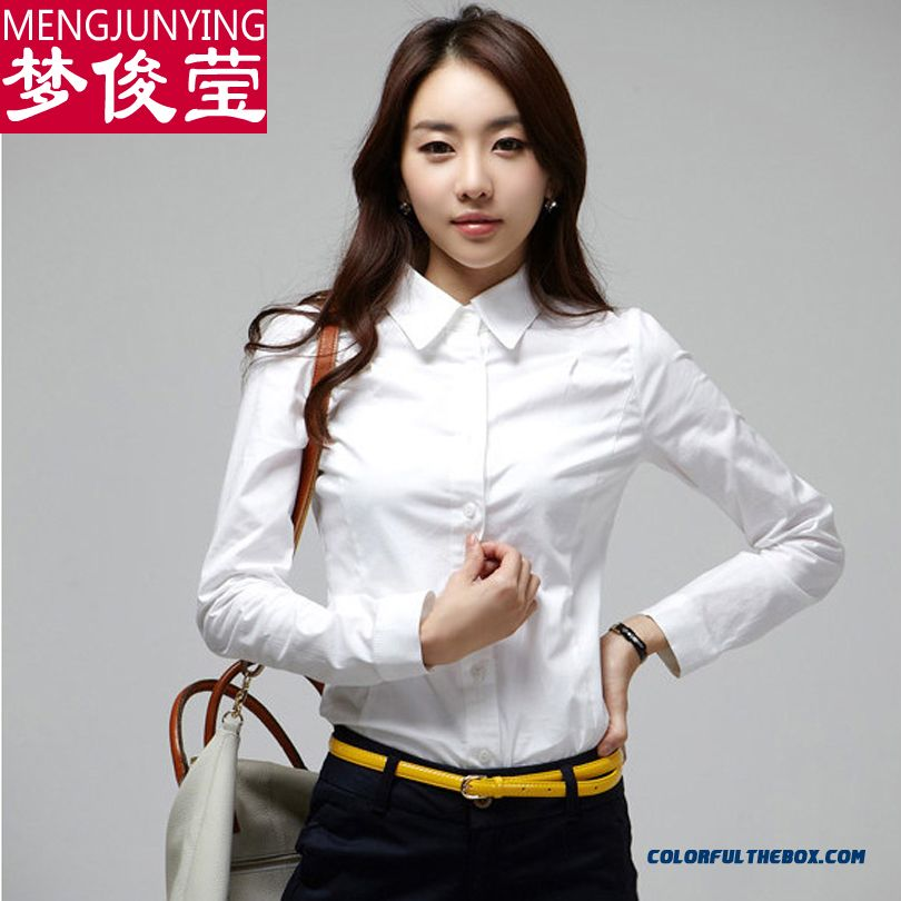 Low Price High Quality For Women Shirts Formal Shirts Long-sleeved Blouses Cotton
