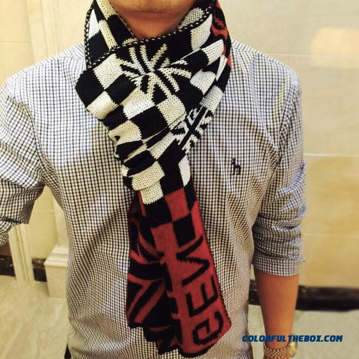 Low Price Special For Autumn And Winter Wool Men's Scarves Rice Word Classic British Joker Plaid Scarf