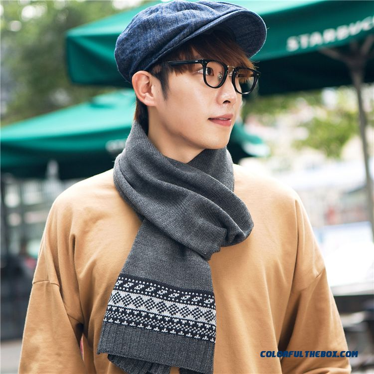 Low Price Wholesale Men Accessories Of Thick Warm Tide Men's Pure Color Scarves Couple Scarves
