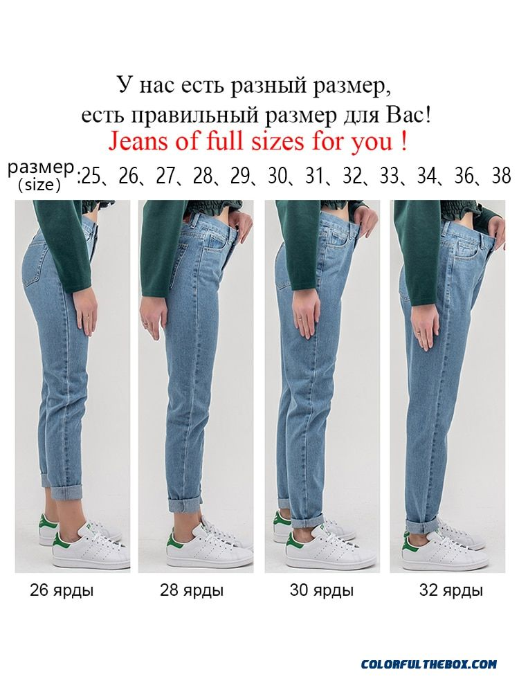 Luckinyoyo Jean Woman Mom Jeans Pants Boyfriend Jeans For Women With High Waist Push Up Large Size Ladies Jeans Denim 5xl 2019 - more images 2