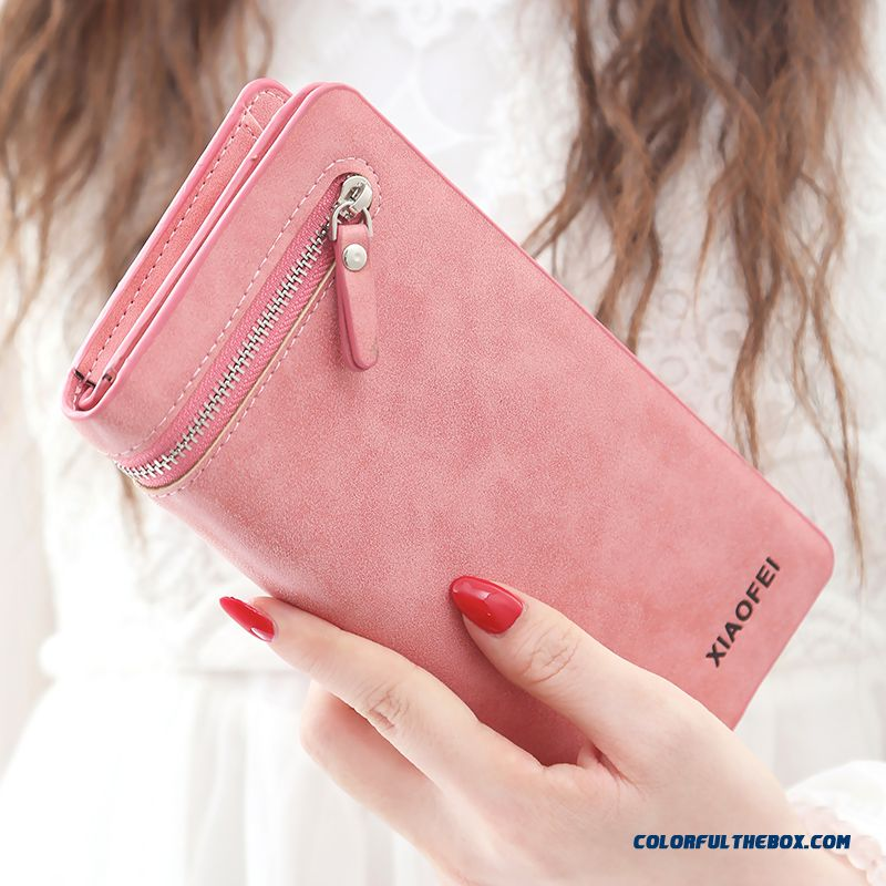 Luxury New Brand Lady Wallet Long Section Scrub Large Capacity Multi-card Wallet Bags