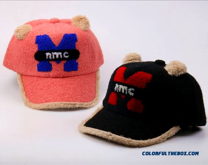 M Letter Plush Boys And Girls Baseball Caps Peaked Cap Baby Cap Design For Kids