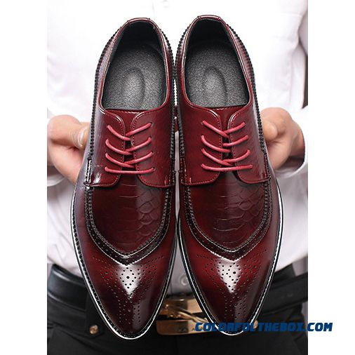 M-anxiu Men Fashion Business Shoes Casual Shoes Pointed Toe Shoes Wedding Flat Dress Party Lace Up Shoes Plus Size
