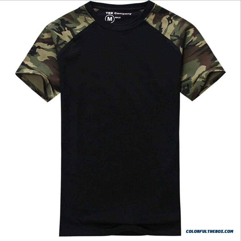 Cheap Man Casual Camouflage T Shirt Men Cotton Army