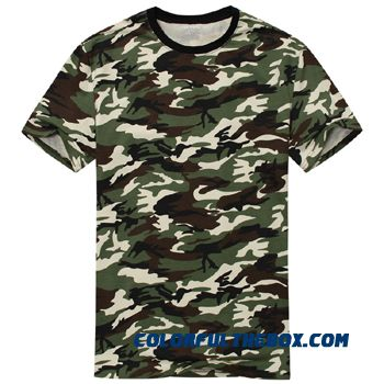Man Casual Camouflage T-shirt Men Cotton Army Tactical Combat T Shirt Military Sport Camo Camp Mens T Shirts Fashion 2016 Tees - more images 1