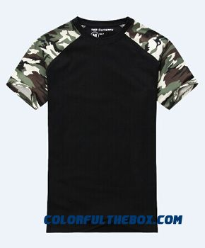 Man Casual Camouflage T-shirt Men Cotton Army Tactical Combat T Shirt Military Sport Camo Camp Mens T Shirts Fashion 2016 Tees - more images 2