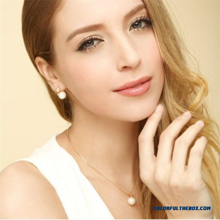 Manufacturers Direct Women Diamond Earrings Gold Golden Erfly Pearl Jewelry Detail Images