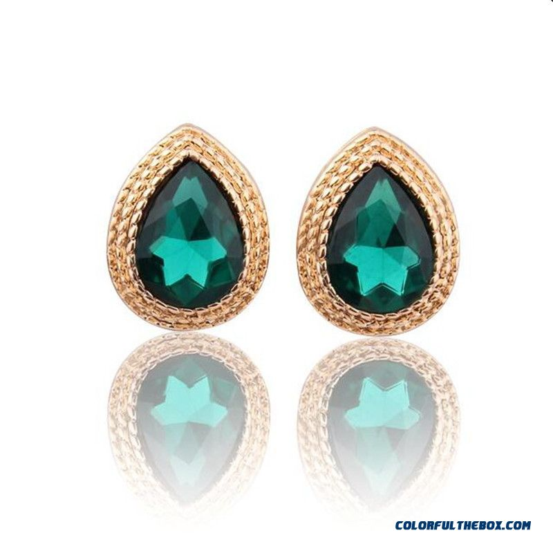 Manufacturers Wholesale Jewelry Ultra - Flash Crystal Drop Earrings Fashion Earrings For Women