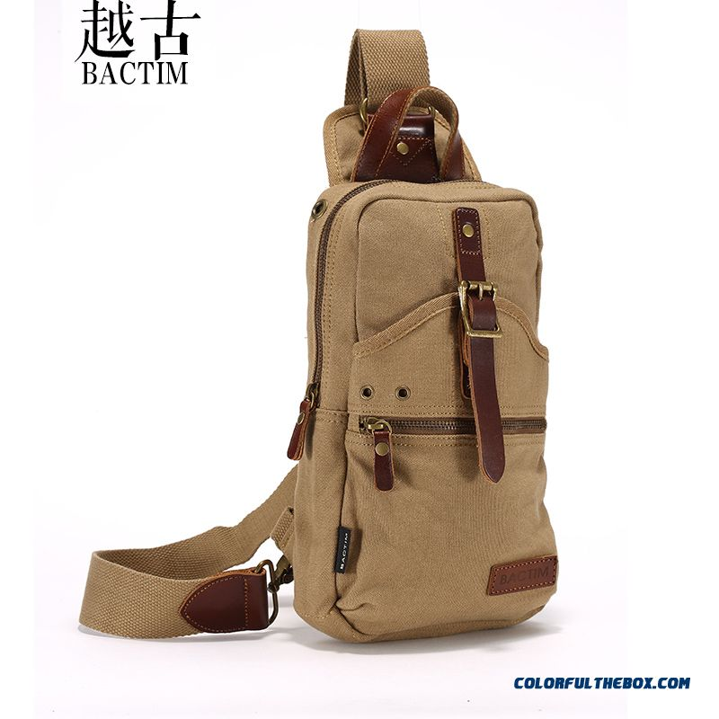 Mature Men Bag Casual Canvas Shoulder Crossbody Bags Multifunction Promotion