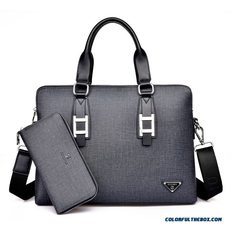 Mature Men Use Of Handbag Business Simple Casual Laptop Bag Briefcase
