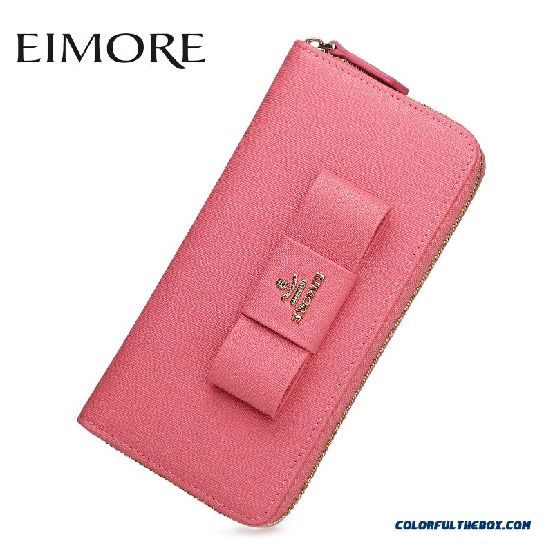 Medium-long Wallet Simple Fashion Thin Ladies Zip Wallet Clutch Women Bags