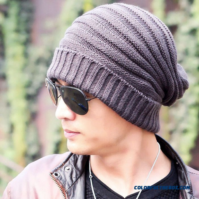 f7e4aa3e941 Men Accessories Knitting Wool Solid Cap Wholesale Low Price High Quality
