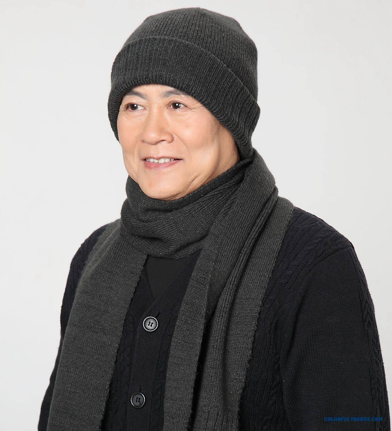 Men And Women Two Piece Of Rabbit Wool Woolen Hat With Protect Ear Function And Same Style Scarf