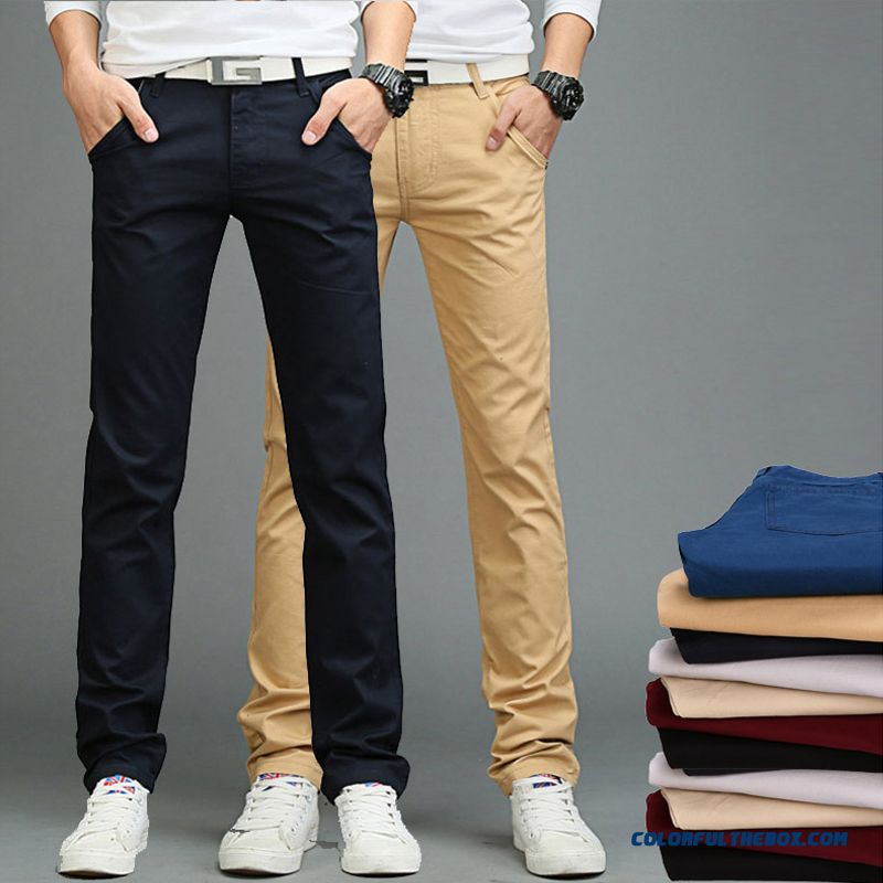 Men Autumn And Winter Clothing Korean Version Thin Straight Business Casual Slim Pants