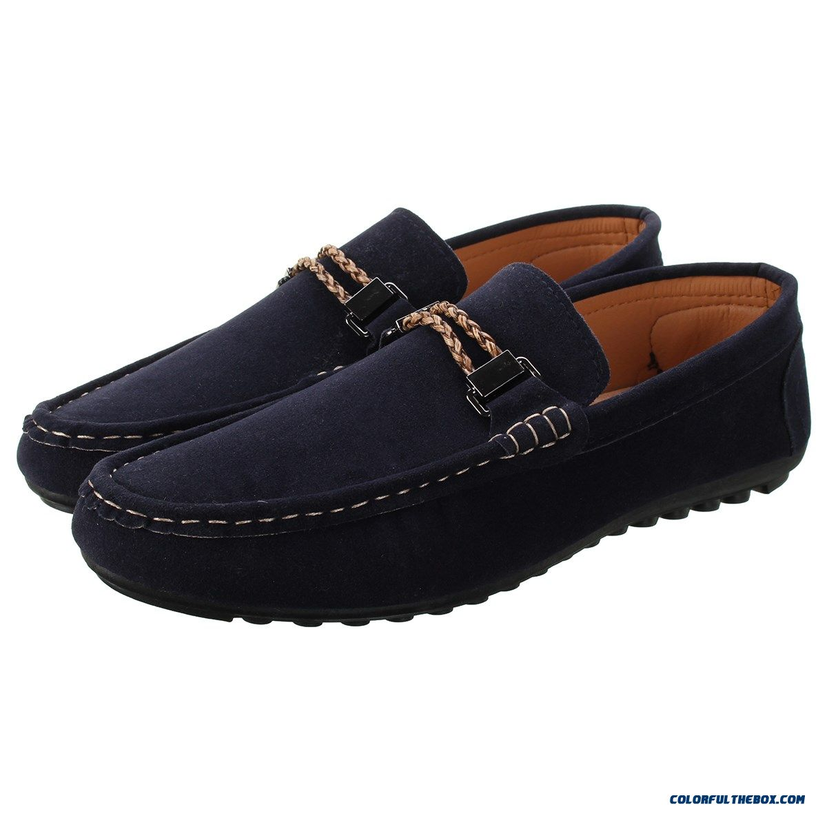 Men Casual Flat Heels Outdoor Leisure Shoes, Loafers Driving Flats Men Shoes New Fashion Slip-on Man Male Flat Shoes