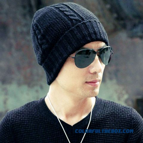 Men Double Thick Warm Wool Hat Northeast China Plus Velvet Cap Hot Sale In China