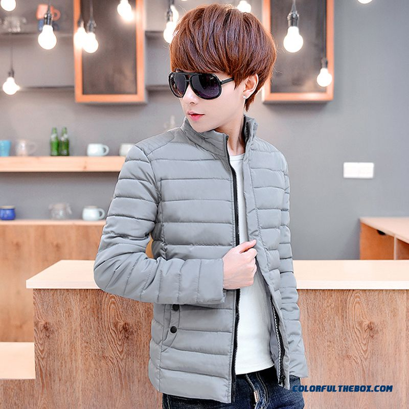 Men Down Jacketwinter Newthin Slim Stand Collar Cotton-padded Jacket Tide