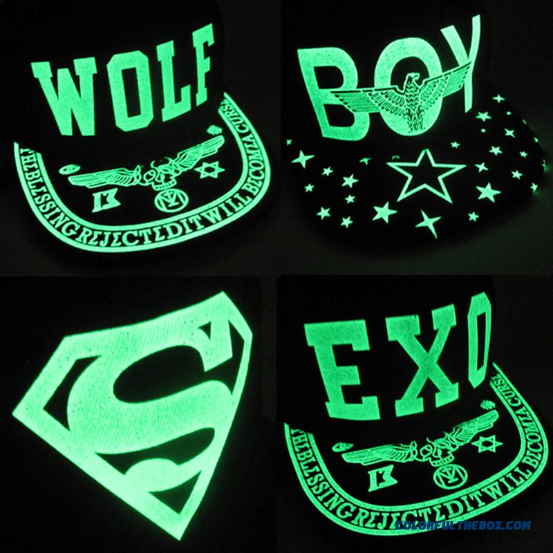 Men Lady Spring Exo Luminous Fluorescent Cap Hip-hop Baseball Cap Accessories Free Shipping