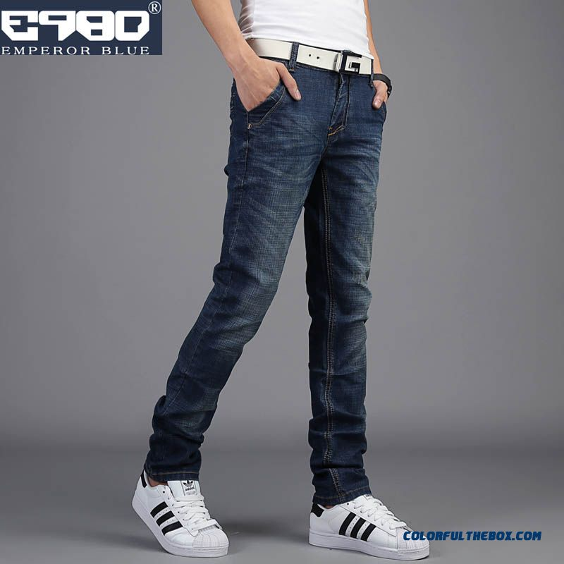 Men Long Style Autumn Elastic Jeans Slim Free Shipping High Quality