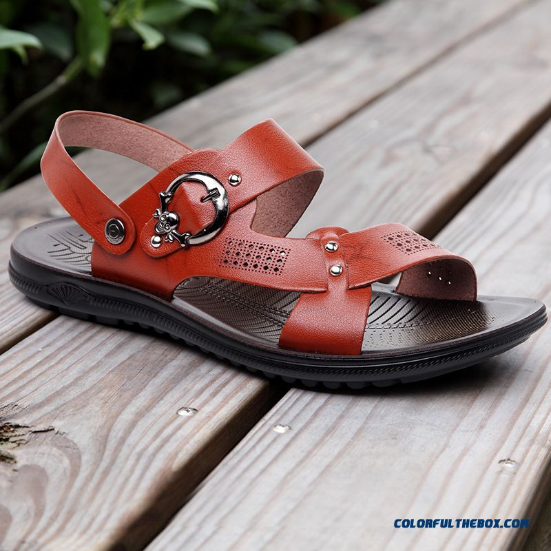 49e7e5c34d8c08 Men Summer Open Toe Sandals Outdoor Antiskid Shoes